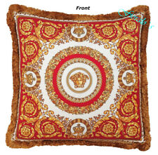 Versace Medusa Crete de FLeur Pillow  Red/Black - Silk -