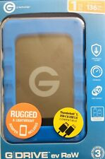G-Technology G-DRIVE ev RaW external HD 1TB Black,Blue - 0G04102 EMEA