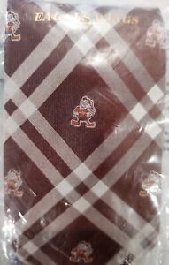 Eagles Wings NFL Cleveland Browns Mens Woven Polyester Necktie