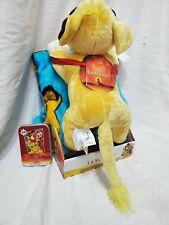 "NEW Disney LION KING Simba Cub 40"" x 50"" Silky Soft THROW BLANKET & PILLOW Plush"