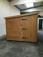 Garden Pent shed 14 x 8 ft 19mm cladding *FREE INSTALLATION*