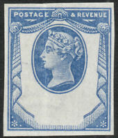 1887 JUBILEE SG198 1½d. BLUE REPLY PAID ESSAY HEAD PLATE ON IMPERFORATE PAPER
