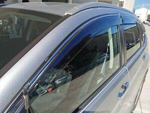 Tinted Chrome Door Visor Weathershield Rainshield for Honda CR-V RM 13-17