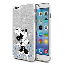 Glitter Effect Disney Minnie Hard Case Cover For Samsung Apple Huawei HTC - 23