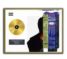 Nekfeu Poster, Cyborg GOLD/PLATINIUM CD, gerahmtes Poster HipHop Rap WallArt