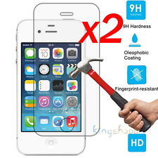 2Pcs 9H HD Premium Tempered Glass Film Screen Protector For Apple iPhone 4 / 4s