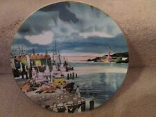 Fisherman's Wharf Dong Kingman Ltd Ed Collector Plate Ltd Ed 10 Inch