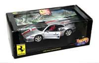Hot Wheels Silver Ferrari 1998 F355 Challenge 1:18 Scale Die Cast Model