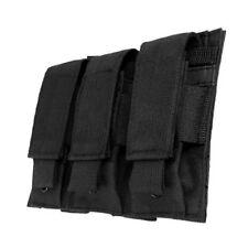 NcSTAR Black Triple MOLLE Pals Pistol Mag Magazine Pouch Holster M9 1911 9mm 45