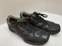 Skechers Men's Casual Sneakers Black Leather Lace Up Shoes Size 9.5 Nice! Look👀