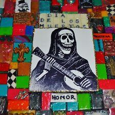 DIA DE LAS MUERTAS / LOS MUERTOS by Lacombe DAY of DEAD ORIGINAL ART free SHIP