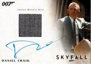 Daniel Craig certified signed autographed auto suit relic James Bond 007 172/250