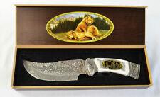 Frost Cutlery Ornamental Wolf Fix Blade Knife & Case (2457)
