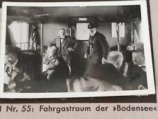 1933 Zeppelin Weltfahrten Cigarette Card German Photo 55 Passenger Bodensee
