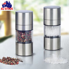 AU Premium Salt and Pepper Grinder Set - Best Stainless Steel Mill For Cooking