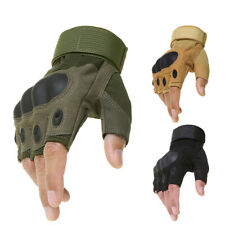 Tactical Hard Knuckle Half Finger Gloves Army Military Airsoft Work Fingerless