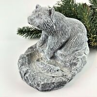 Mt. St. Helen's Volcanic Ash Clay ~ Bear Sculpture Figurine  Made in Seattle PNW