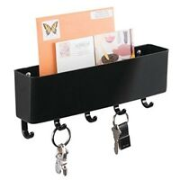 Key Rack Mail Letter Holder Wall Mounted Organizer Hook Entryway Kitchen Office