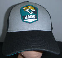 Jacksonville Jaguars NFL New Era 39Thirty Gray Heather Patch Logo Fitted Hat S-M