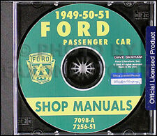 1949 1950 1951 Ford Car Shop Manual on CD-ROM Service with FordOMatic Repair