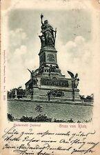 Rüdesheim, Niederwald-Denkmal, Reliefkarte, 1899
