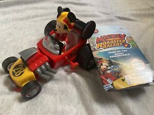 Disney Parks Mickey Mouse & The Roadster Racers Children Kids Wind Up Toy Car A2