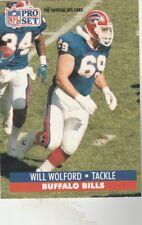 FREE SHIPPING-MINT-1991 Pro Set  #88 Will Wolford BILLS