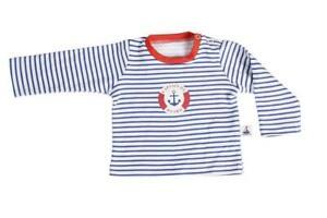 Hansekind T-Shirt langarm navy gestreift Größe 98/104