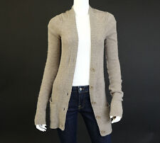 INHABIT Taupe Lightweight Cashmere Blend Cardigan, Sz M