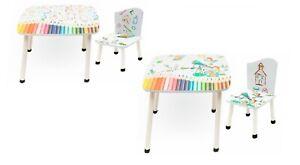 Kids Wooden Table and Chair Set Children Nursery Play Hidden Storage Box 2Chairs