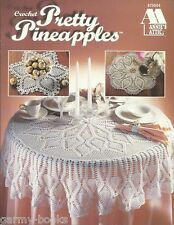 Pretty Pineapples Crochet Pattern Book Doilies Tablecloth Annie's Attic NEW
