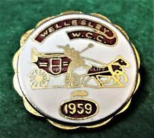 WELLESLEY CURLING CLUB W.C.C. Ontario CANADA Lapel Pin 1959