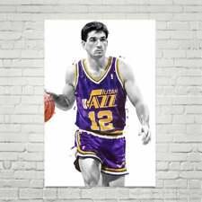 John Stockton Utah poster, Basketball print, Sports wall art, Kids room decor