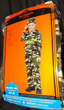 ARMY COMMANDO KID PLAYWEAR SZ MED 7-8 JUMPSUIT VEST HELMET WALKIE TALKIE CANTEEN