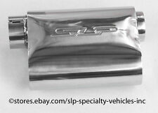 "SLP Polished Stainless Steel 3"" In/Out PowerFlo Muffler  BRAND NEW"