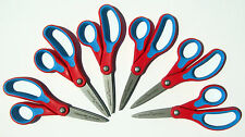 Lot 6 Left-handed FISKARS Softgrip Kids Pointed Scissors (5+) MADE IN USA! New