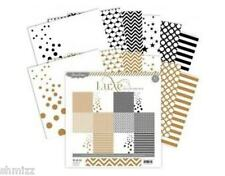 Pink Paislee Luxe Collection Paper Pack 12x12 Copper and Black