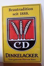 Targa in metallo pubblicitaria birra CD Dinkelacker Von ganzem Herzer Bier