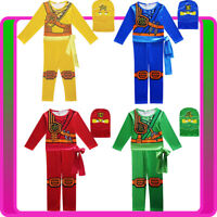 Kids Ninjago Costume Boys Japanese Fighter Warrior Ninja Book Week Superhero