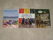 2015- Kentucky Derby,Preakness and Belmont Stakes Programs (American Pharoah)