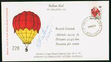 Mayfairstamps Australia 1975 Pilot Autographed Balloon Mail Flight Horsham to Co