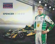 "2017 Spencer Pigot Fuzzy's Vodka ""2nd issued"" Chevy Dallara Indy Car postcard"