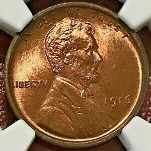 1916 LINCOLN WHEAT CENT NGC UNC