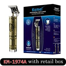 Kemei 1974 Metal Pro T-OUTLINER Cordless Trimmer Wireless Portable Hair Clipper