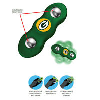 New NFL Green Bay Packers 2 in 1 Flik Fidget Hand Spinner Rolling Balls
