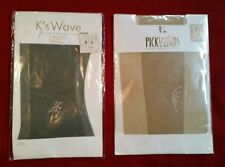 Vintage Panty Hose - Size S-M - Japanese - Shear Grey & Taupe w Insets -Lot of 2