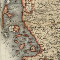 Duchy of Schleswig Germany Denmark region 1867 Meyer detailed nice small old map