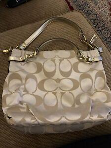 Coach Handbag Used (Gold)