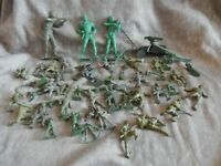 vintage various-MARX-TIM MEE-ect..SOLIDERS-TANKS ect...100 pcs..
