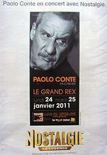 PUBLICITE RADIO    NOSTALGIE  PAOLO CONTE   ANNEE 2010    REF 12248